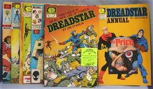 Large collection of Dreadstar comic books