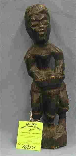 Antique hand carved African drummer
