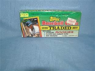 1990 Topps traded card baseball card set