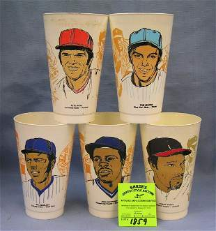Group of early baseball all star cups