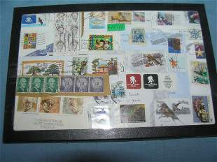 Collection of world wide postage stamps including the