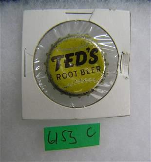Ted Williams root beer soda cap
