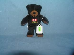 Vintage Canadian bear bean bag toy