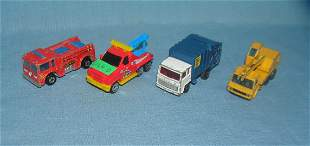 Group of vintage toy trucks