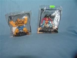Pair of Superhero toys both in original bag