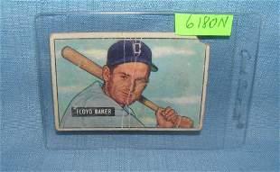Early Floyd Baker baseball card
