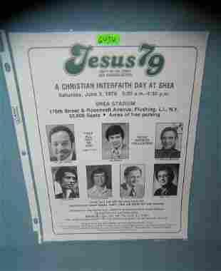 Jesus '79 flyer featuring Jim Bakker