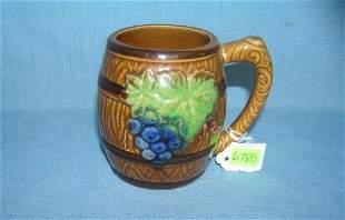 Italian made fruit decorated porcelain coffee mug