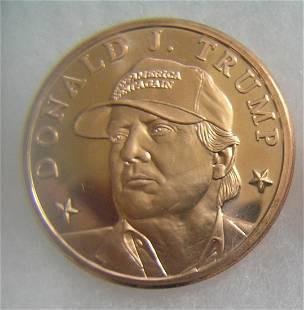 Donald Trump 1 oz fine copper commemorative coin