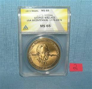 1973 bronze George Wallace bicentenial 1776-1976