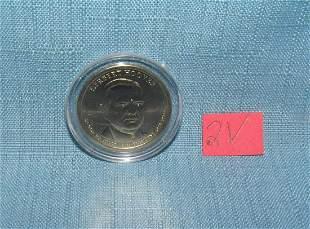 Herbert Hoover gold dollar coin AU, cased