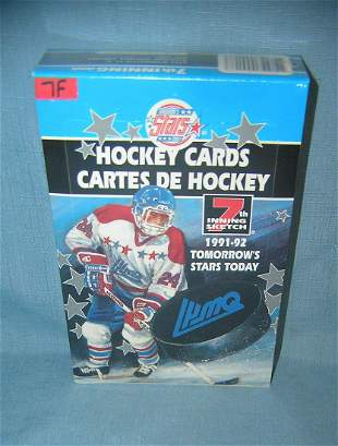 Hockey cards factory sealed box includes rookies