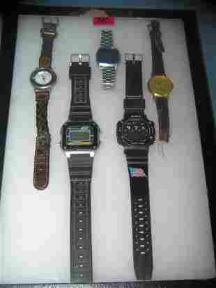 Collection of costume jewelry watches