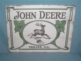 John Deere tractor retro style advertising sign printed