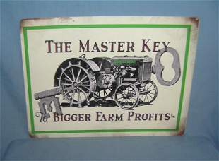 Farm Tractor retro style advertising sign printed on