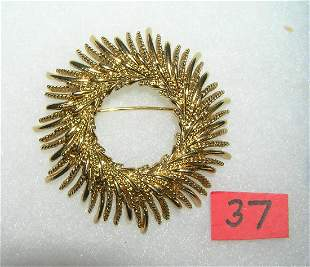 High quality Monet signed costume jewelry pin