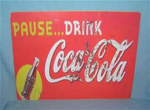 Pause…Drink Coca Cola retro style advertising sign