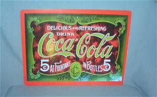 Coca Cola retro style advertising sign printed on PVC