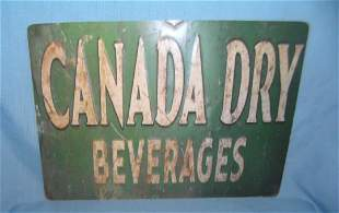 Canada Dry Beverages retro style advertising sign