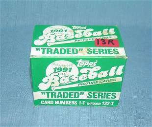 1991 Topps baseball traded card set