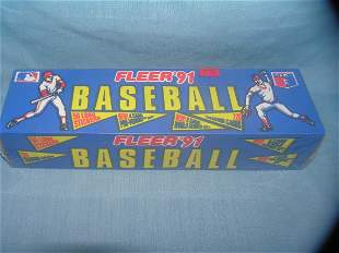Fleer 1991 factory sealed baseball card set