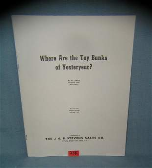 Where are the Toy Banks of Yesteryear? bank booklet