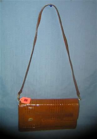High quality vintage alligator hand bag