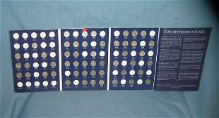 Jefferson nickle collection with collector's blue book