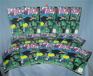 Large group of Detective comic books