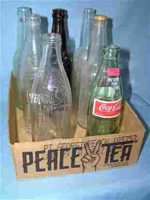 Collection of vintage soda bottles