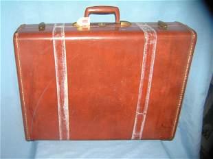 Vintage leather luggage case by Samsonite