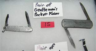 Pair of gentlemen's pocket knives