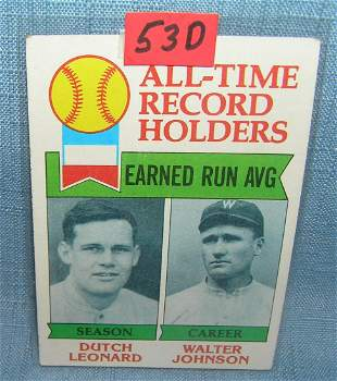 Topps Walter Johnson baseball card