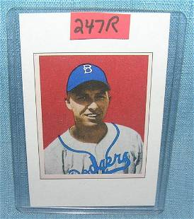 Gil Hodges Bowman reprint Baseball card