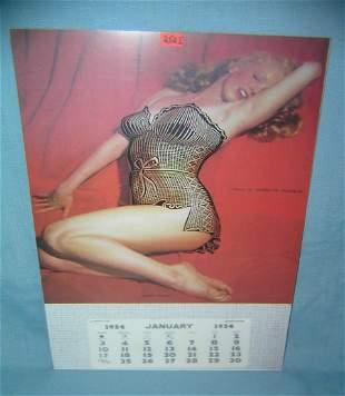 Marilyn Monroe calendar retro style advertising sign