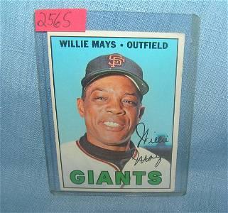 Willie Mays 1967 Topps baseball card
