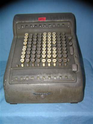 Great early Burroughs calculating adding machine