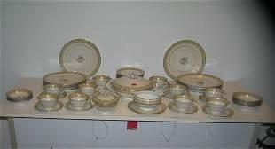 Large 54 piece Czechoslovakian dinnerware set