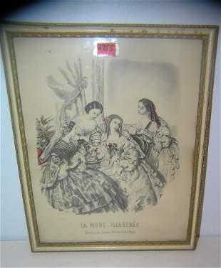 Antique Victorian print