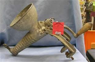 Cast iron antique food grinder by Enterprise