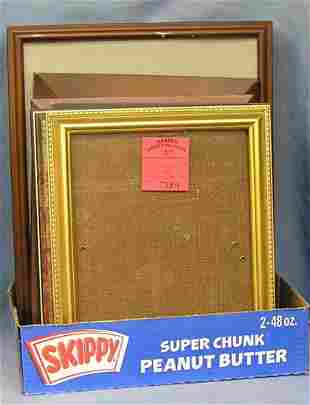 Large box full of vintage frames