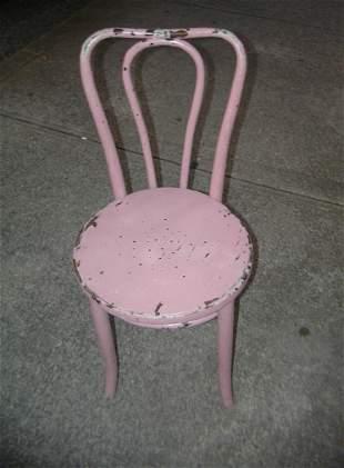 Antique ice cream parlor chair