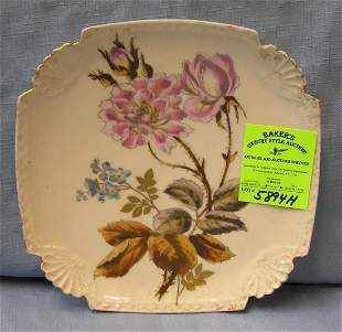 Great early floral decorated plate