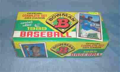 1989 Bowman factory sealed baseball card set