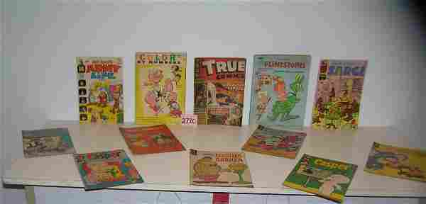 Large group of vintage comic books and coloring books