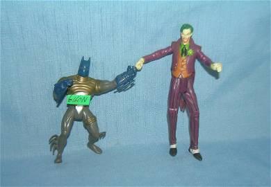Pair of vintage Batman and Joker figures