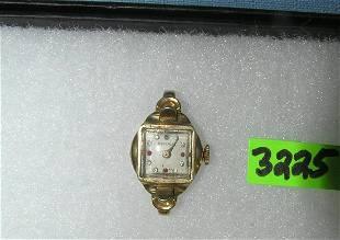 Benrus gold plated wrist watch