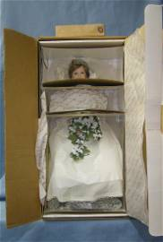 18 inch bisque porcelain Princess Diana bride doll