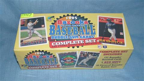 1995 Bazooka major league baseball card set