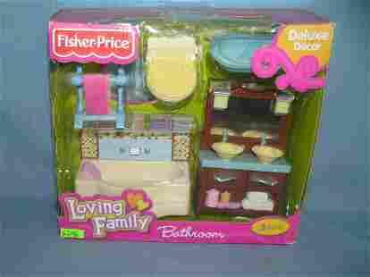 Fisher Price loving family bathroom play set